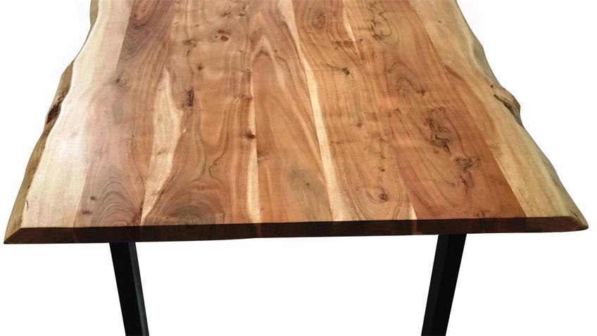 Esstisch Tops & Tables Eisengestell schwarz Akazie massiv