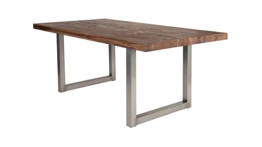 Esstisch Tops & Tables Roheisengestell Balkeneiche Räucheröl