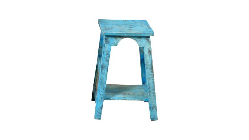 Blumenhocker klein BLUE Echt Altholz lackiert blue washed