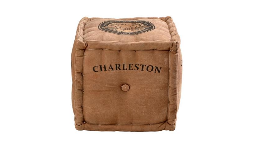 Sitzwürfel Charleston aus Schaumstoff mit Canvas bezogen