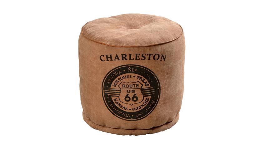 Sitzhocker Charleston aus Schaumstoff mit Canvas bezogen