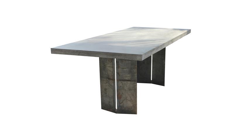 Esstisch Cement aus Leichtbeton und Metall 200x100 cm