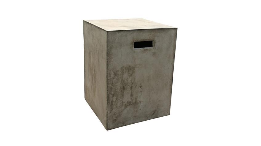 Hocker Cement aus Leichtbeton mit Grifflöchern