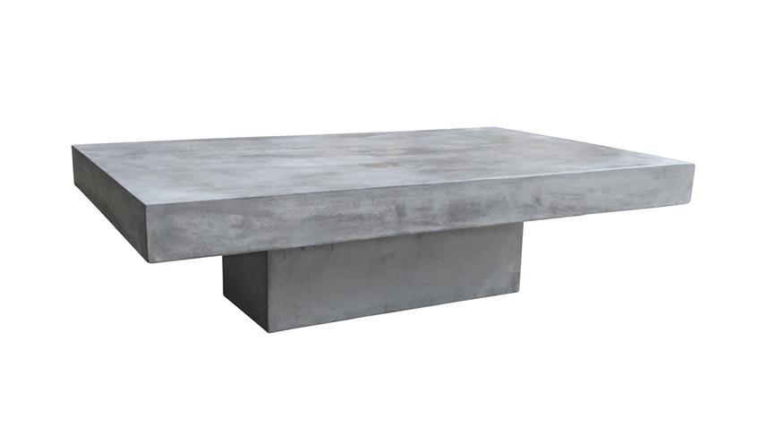 Couchtisch 120x60 cm Cement aus Leichtbeton