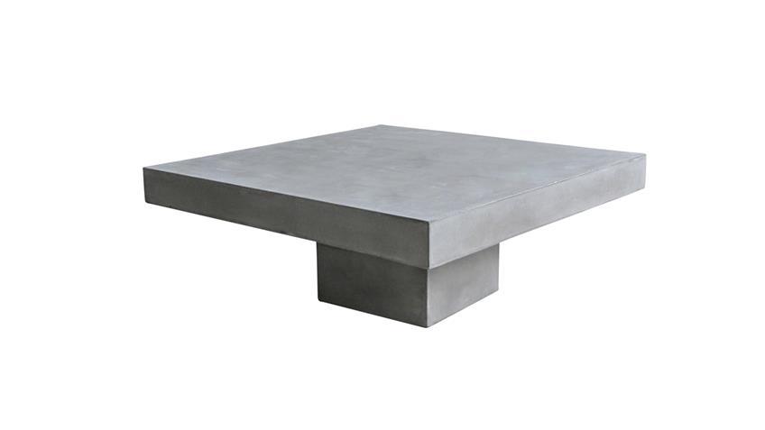 Couchtisch 80x80 cm Cement aus Leichtbeton
