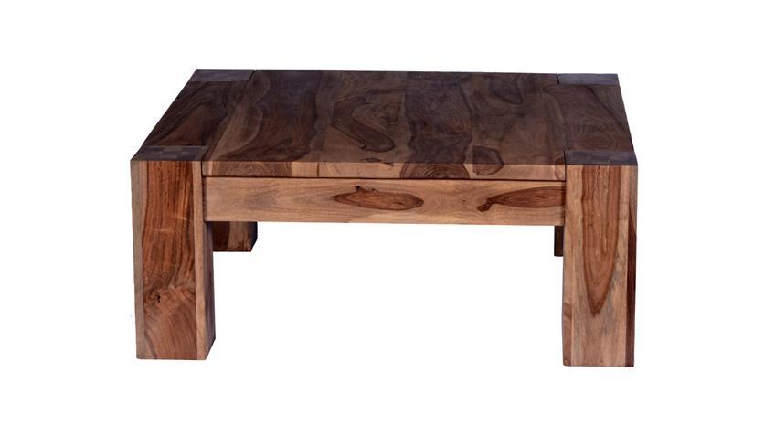 Couchtisch Thor 85x85 cm aus Sheesham-Holz massiv
