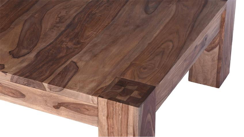 Couchtisch Thor 130x85 cm aus Sheesham-Holz massiv