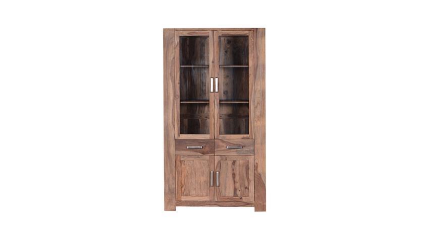 Wohnzimmer Set Thor aus Sheesham-Holz massiv mit Couchtisch