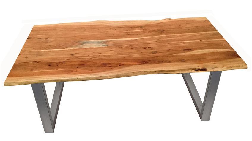 Esstisch Tops & Tables Stahlgestell Platte Akazie 160x85 cm