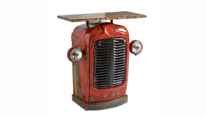 Kommode Traktor Schrank recyceltes Altholz und Metall B 80 cm