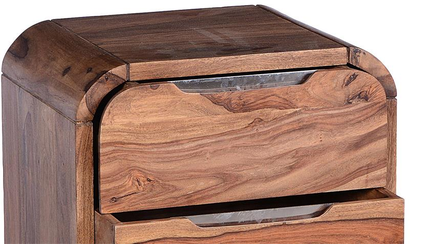Rollcontainer GOA von SIT Sheesham Holz massiv auf Rollen