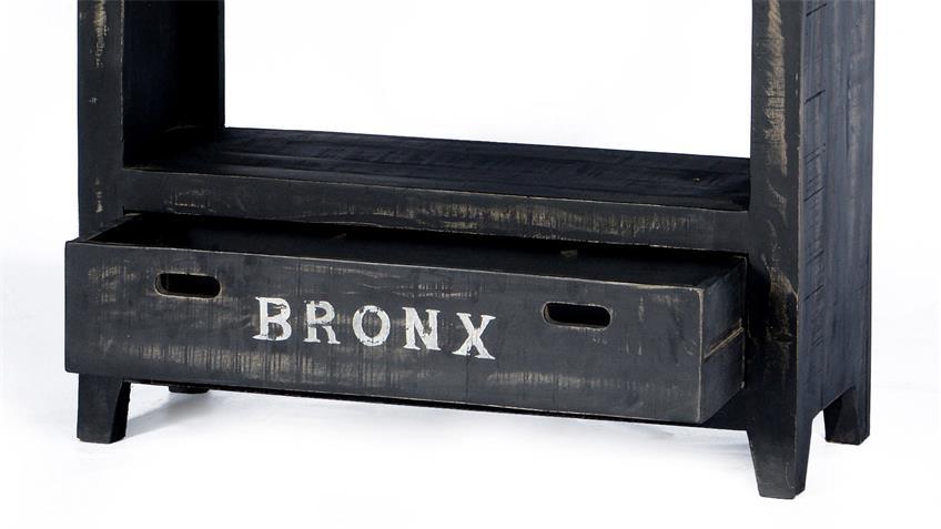 Regal BRONX von SIT in Mangoholz antikschwarz lackiert