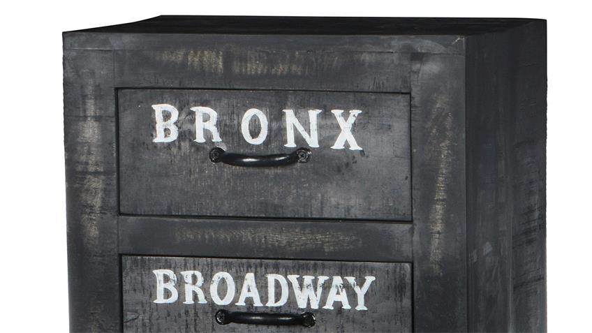 Kommode BRONX von SIT Mangoholz antikschwarz lackiert