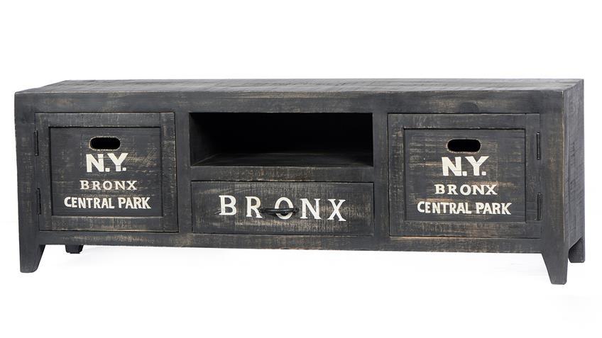 Lowboard BRONX von SIT in Mangoholz antikschwarz lackiert