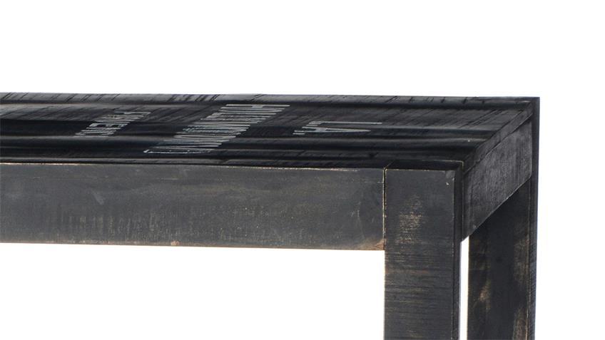 Tisch BRONX von SIT in Mangoholz antikschwarz lackiert