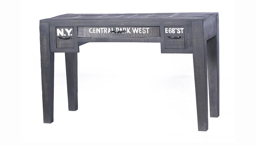 Schreibtisch BRONX von SIT in Mangoholz antikschwarz lackiert