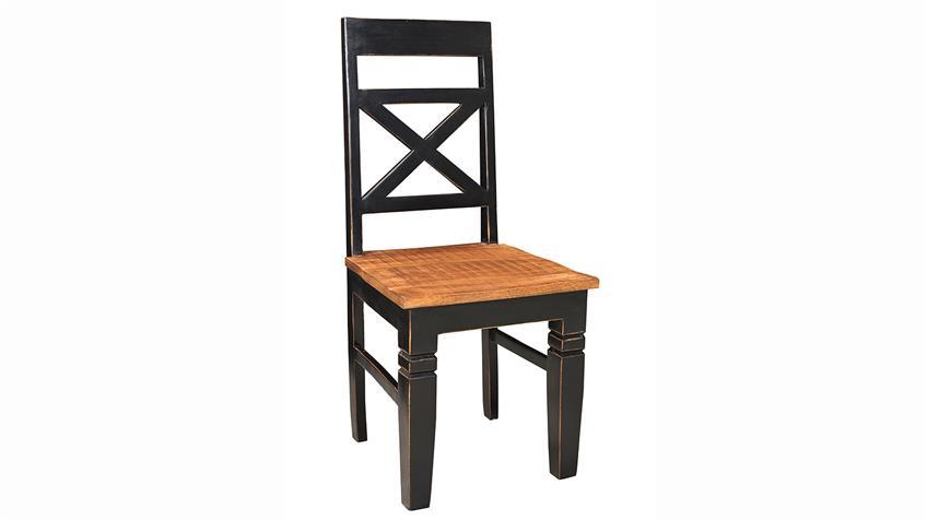 Stuhl CORSICA von SIT Mango MDF schwarz honig