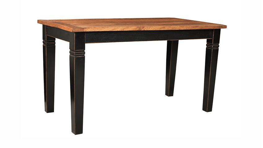 Tisch CORSICA von SIT Mango MDF schwarz honig 180x90 cm