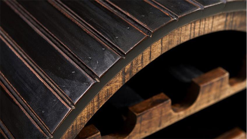 Weinregal CORSICA von SIT Mango MDF schwarz honig
