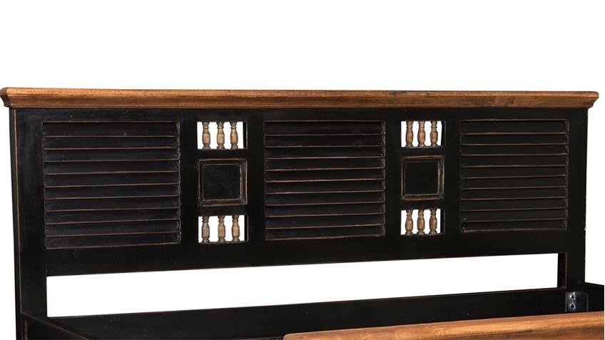 Bett CORSICA von SIT Mango MDF schwarz honig 180x200 cm
