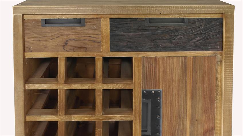 Weinregal THALYSA von SIT Albesia Holz Teakholz H 75 cm