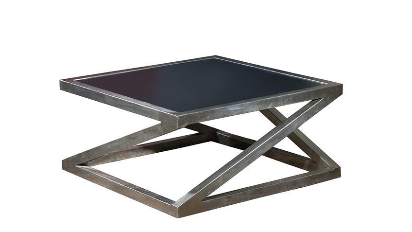 couchtisch art deco metall vernickelt und mdf schwarz. Black Bedroom Furniture Sets. Home Design Ideas