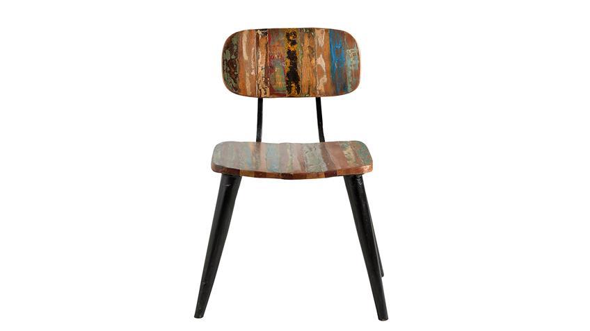 stuhl miami aus altholz bunt lackiert mit metallbeinen. Black Bedroom Furniture Sets. Home Design Ideas