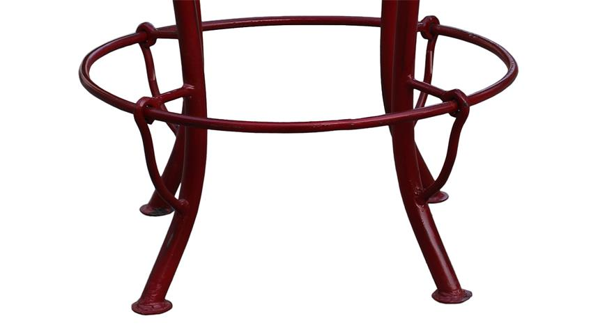 Barhocker THIS THAT Gestell Metall rot Sitz Roheisen