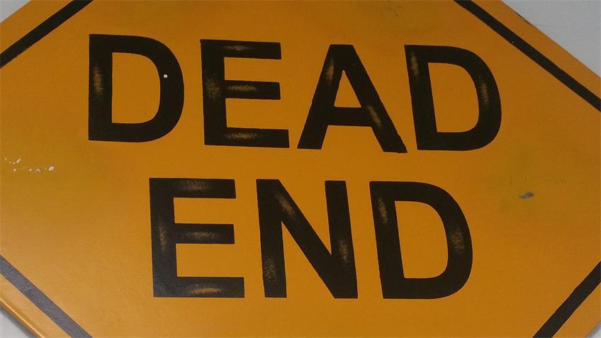 """Wand-Dekoration """"Dead end"""" Eisenschild rustikal 48x48 cm"""