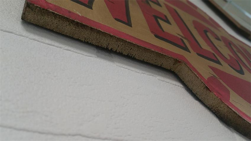 """Wand-Dekoration """"Welcome"""" Vintage Retro Schild 40x25 cm"""