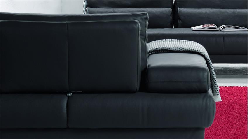 Sofa HARRY 2-Sitzer Leder schwarz 210 cm Ewald Schillig