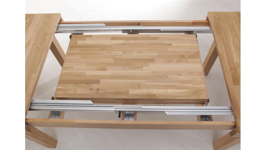 Esstisch MULTI XL Syncronauszug Massivholz Eiche lackiert