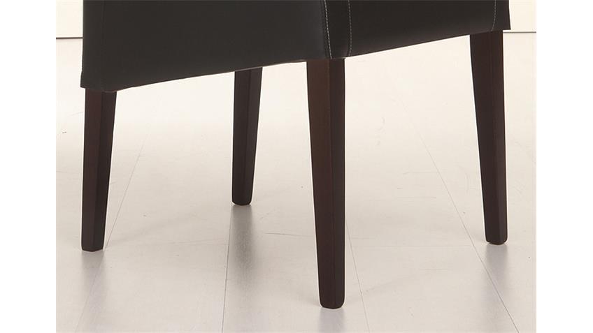 Stuhl LEON Polsterstuhl in schwarz und Buche Kolonial