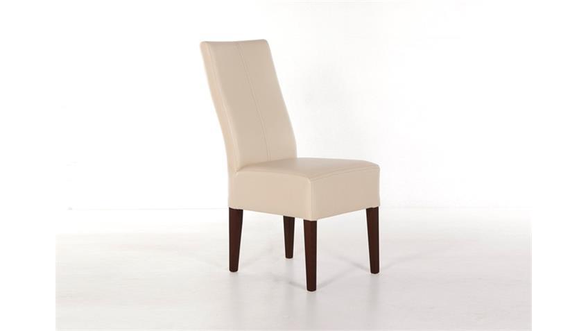 Stuhl TONY Esszimmerstuhl in beige buche und kolonial