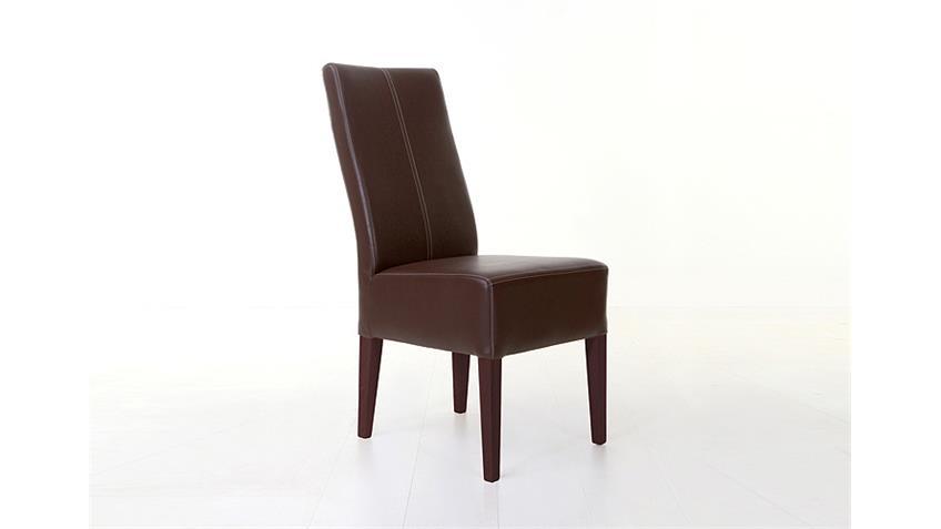 Stuhl TONY Esszimmerstuhl in braun buche und kolonial