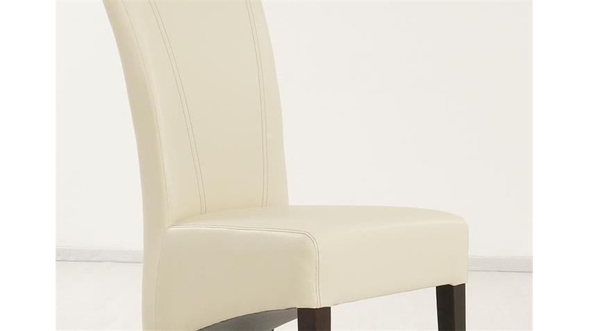 Stuhl MAGA Polsterstuhl Esszimmerstuhl beige und kolonial
