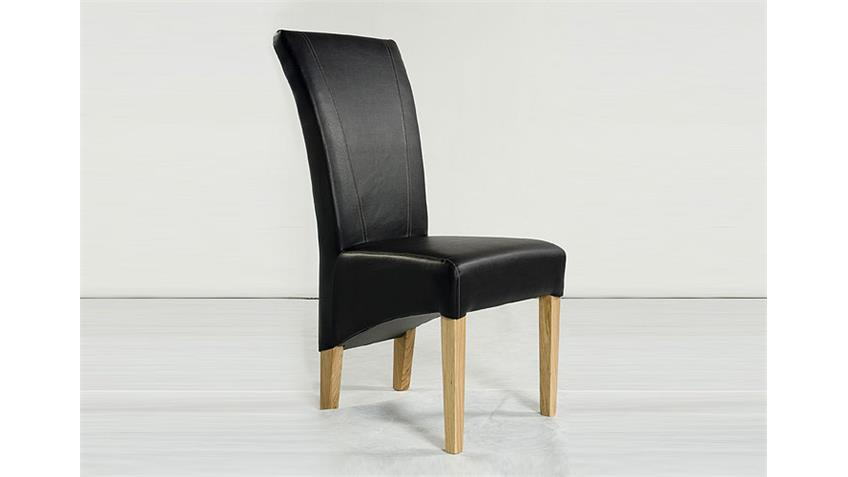 Stuhl MAGA Polsterstuhl Esszimmerstuhl in dunkelbraun Eiche