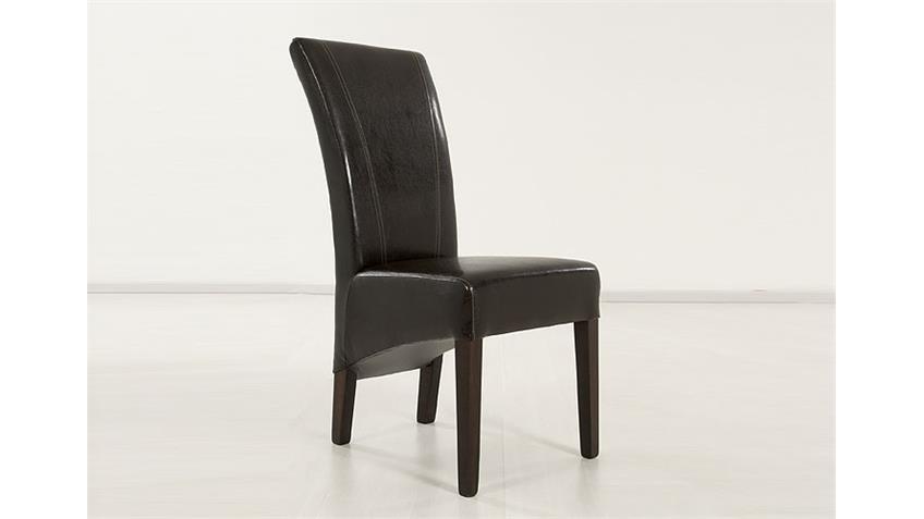 Stuhl MAGA Esszimmerstuhl in dunkelbraun und kolonial