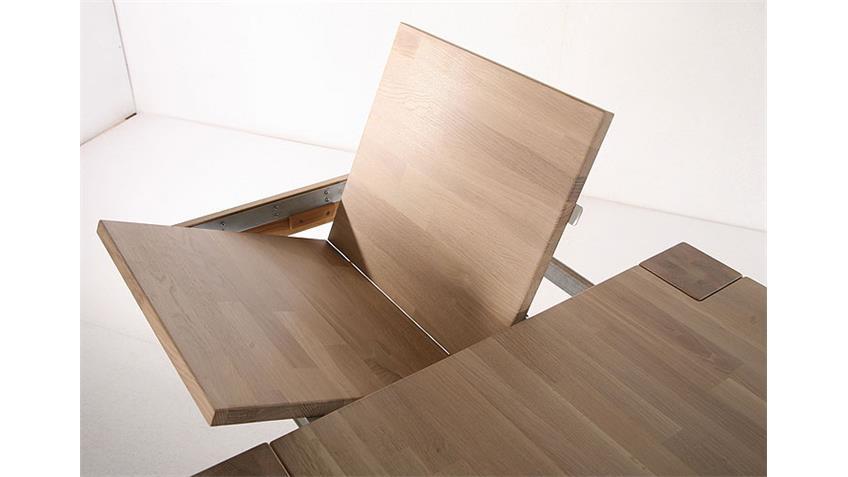 CANDA Esstisch Sonoma Eiche Massiv lackiert - 160/260x90 cm