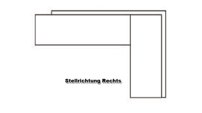 Eckbank DOMINO schwarz Stellrichtung rechts 192x167 cm