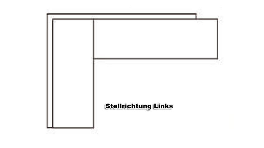 Eckbank DOMINO schwarz Stellrichtung links 288x167 cm
