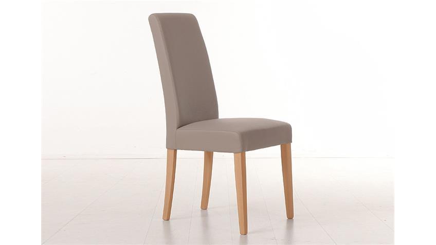 Stuhl SAM 1 Polsterstuhl in Schlamm und Buche natur