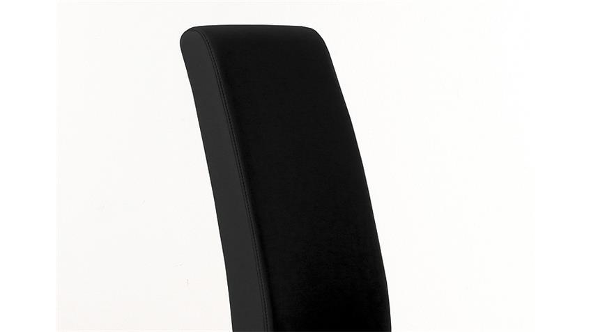 Stuhl SAM 1 Polsterstuhl in schwarz und Sonoma Eiche