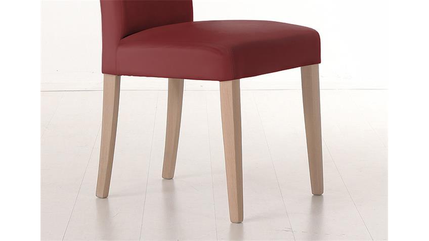 Stuhl SAM 1 Polsterstuhl in cherry rot und Sonoma Eiche