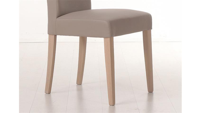 Stuhl SAMIRO 1 Polsterstuhl Schlamm und Sonoma Eiche