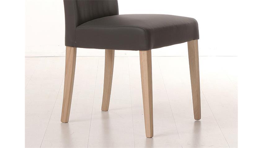 Stuhl SAM 1 Polsterstuhl in braun und Sonoma Eiche
