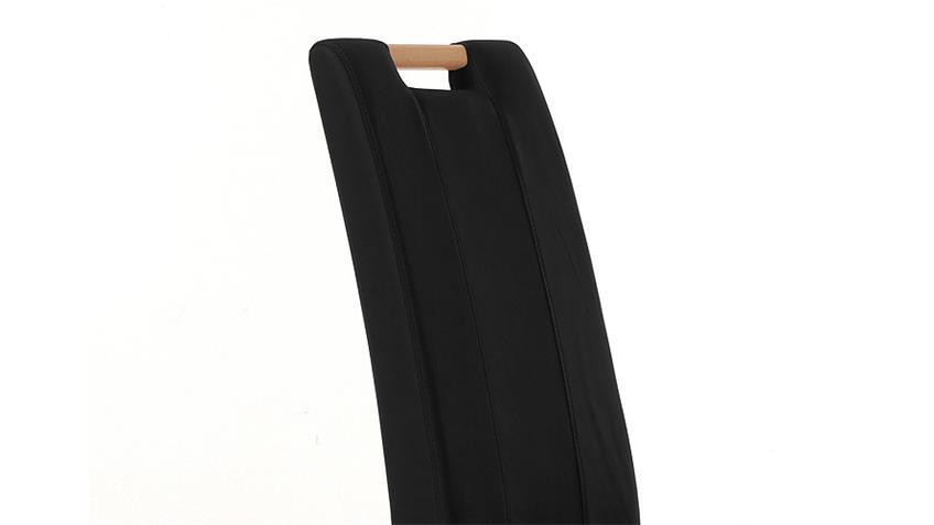 Stuhl SAM 2 schwarz und Buche natur mit Griff