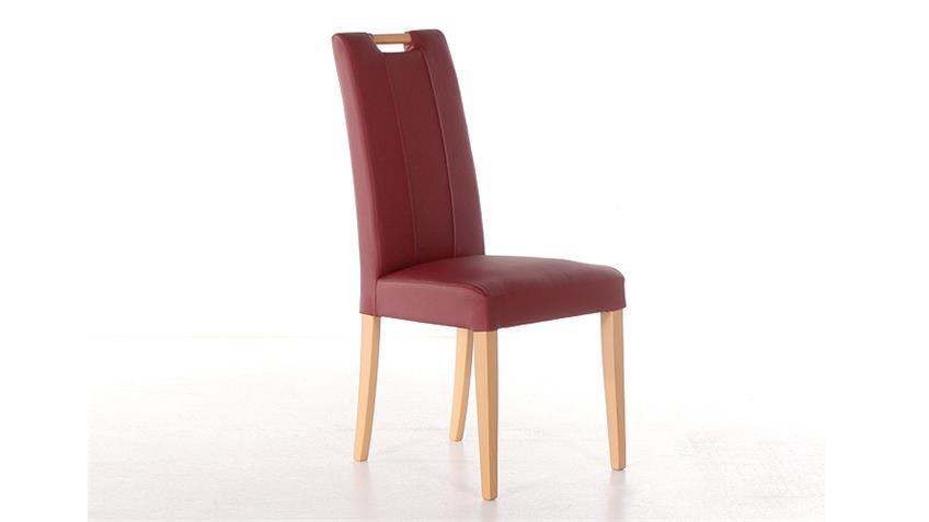 Stuhl SAM 2 cherry rot und Buche natur mit Griff