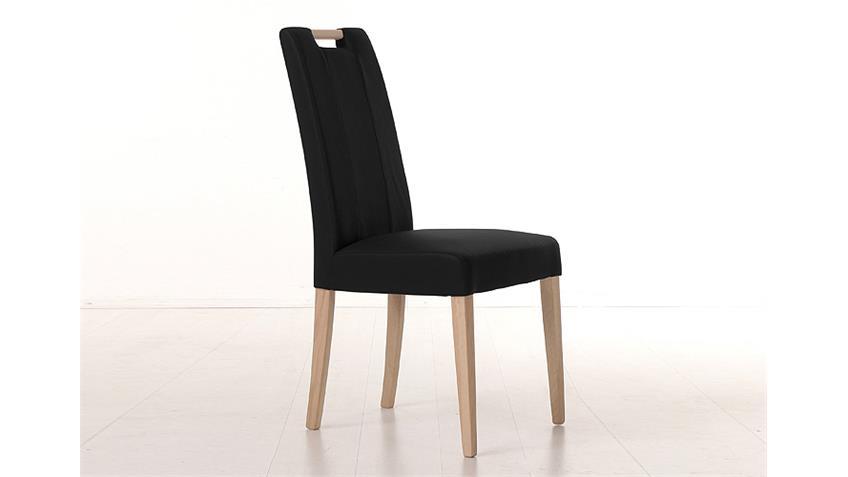 Stuhl SAMIRO 2 schwarz und Sonoma Eiche mit Griff