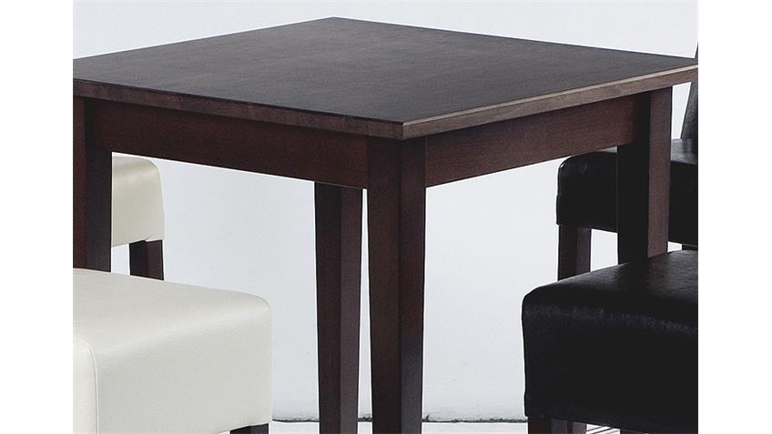 Bartisch UNOS Tisch in Buche Kolonial lackiert 75x75 cm